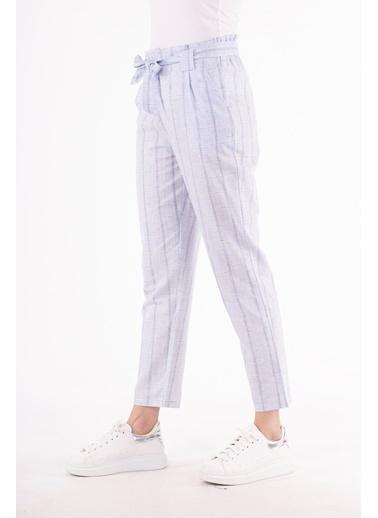 Stamina  Bayan Beli Kemerli Cepli Pantolon-5KTP1 Mavi